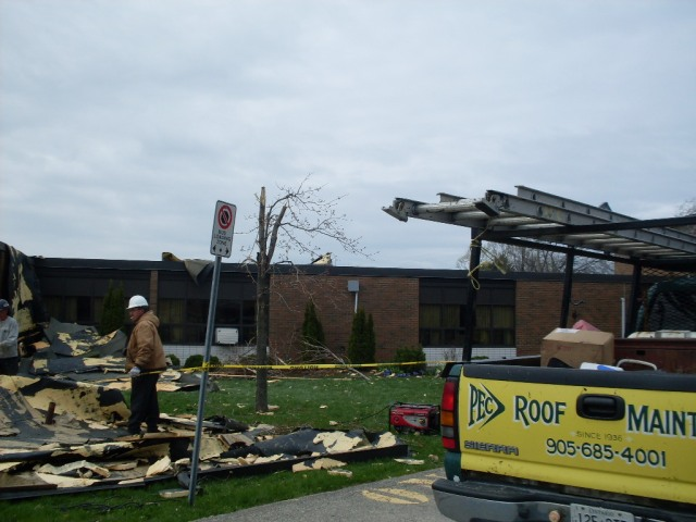 pec-roof-maintenance-steps-in-to-clean-up-mess-at-lockview-public-school-april-28-2011