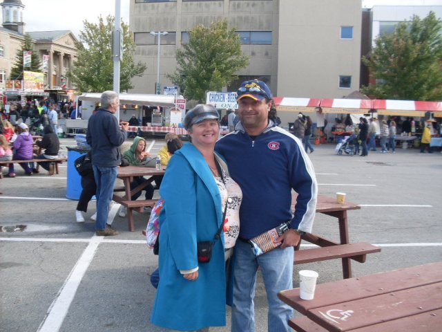 Linda Randall aka the idea girl from IGC Entertainment Canada with Harry at Niagara Food Festival Oct 1, 2011 Welland ON Canada