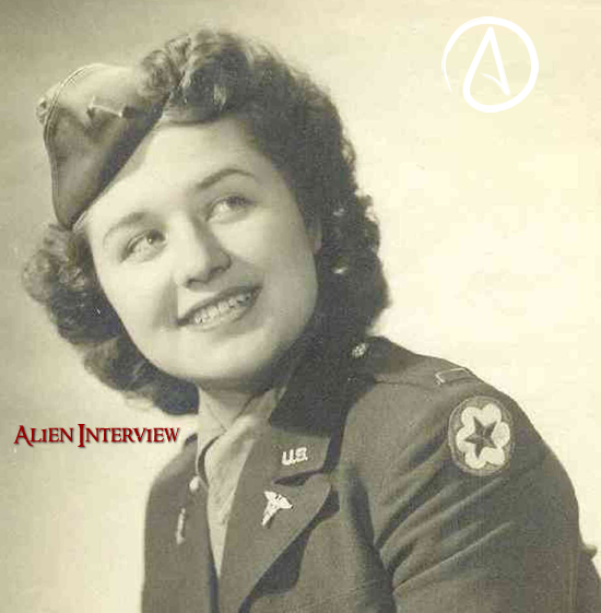Alien_Interview with AIRL The Domain Grey Aliens USAAF Nurse Mrs Matilda O'Donnell Mac Elroy Scotland