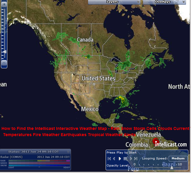Intellicast Interactive Weather Map How to Find the Intellicast Interactive Weather Map – Rain Snow