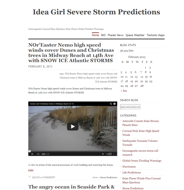 Idea Girl Severe Storm Predictions WordPress Blog Linda Randall The idea girl says Youtube channel