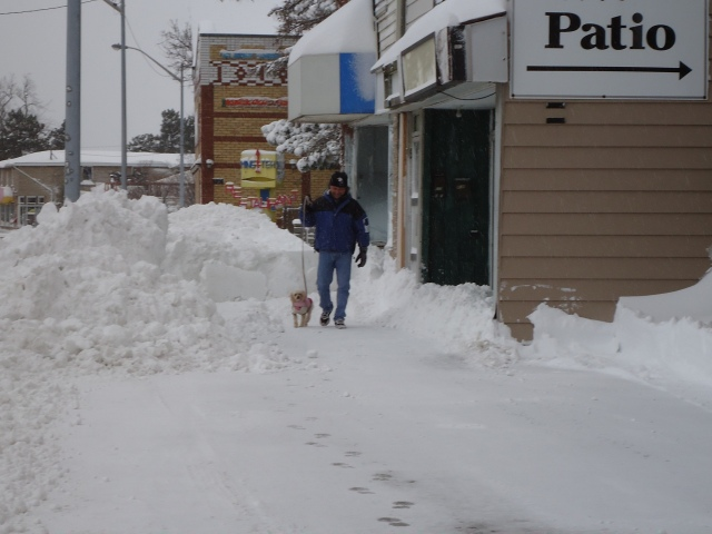 happy jacks side walk tall snow drifts harry daisy dec 27 2012 linda randall fort erie ontario