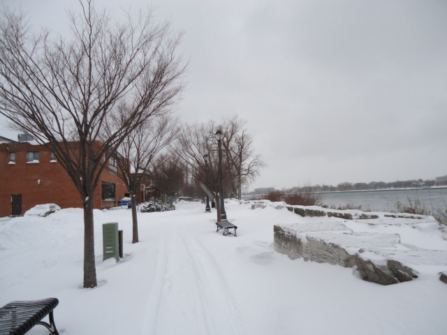 may wah restaurant back patio snow up to benches niagara river pkwy dec 27 2012 storm linda randall