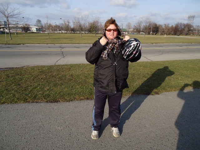 keep ears warm with scarf bike riding bontrager helmet linda randall harry