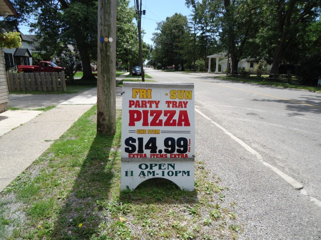 aneta pizzeria ridge rd party tray pizza 14.99 11 am to 10 pm sign linda randall