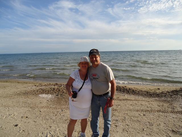Linda Randall and harry on the beach pleasant beach rd port colborne ont 5 aug 2013 clyde