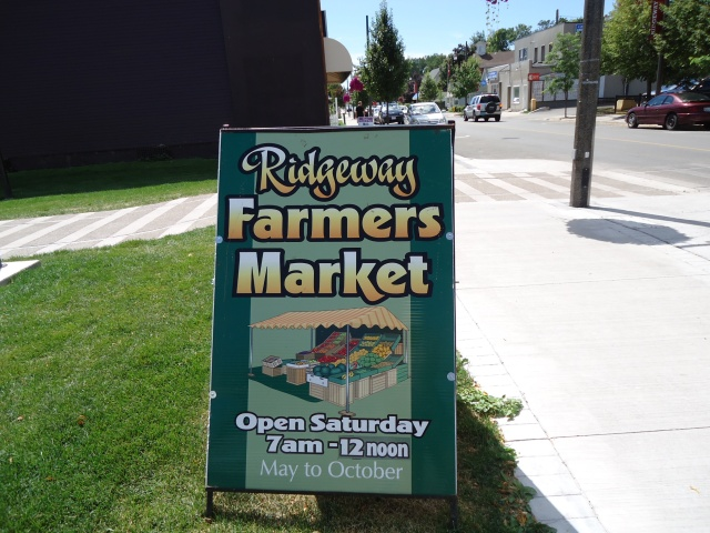 Ridgeway Farmers Market on Friendship Trail Ridge Rd Dominion Rd Sat 7 - 12 noon May to October Linda Randall