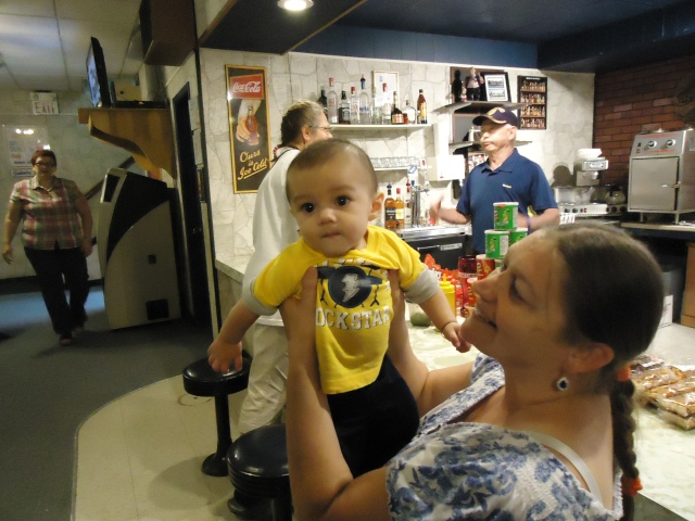 46 grandma kathy with grandson cindy lori henry larry carroll 7 sept 2013
