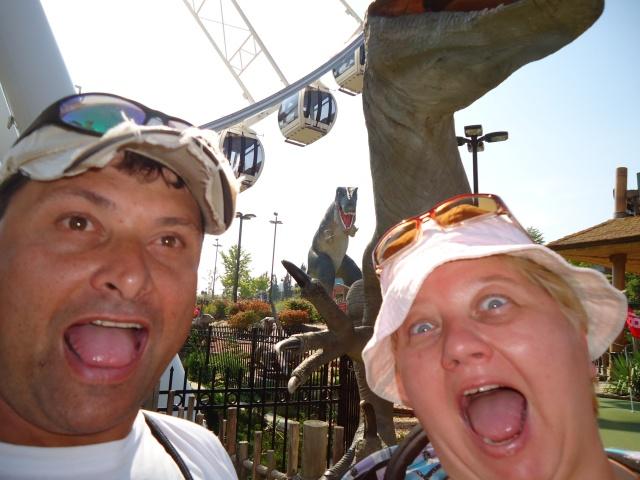 Dinosaurs Attack  Linda Harold Clifton Hill Niagara Falls Ontario Canada 10 Sept 2013