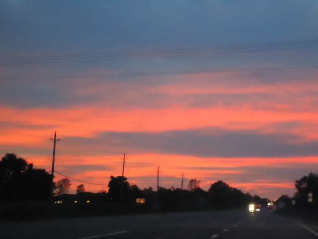 gorgeous red orange sunset hwy 3 crystal beach linda randall