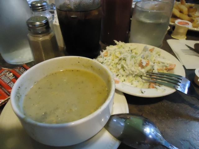 potato leak soup homemade coleslaw delicious bettys restaurant 8921 sodom rd niagara falls ontario canada (905) 295-4436 linda randall