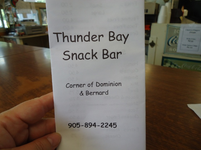 thunder bay snack bar menu corner dominion bernard 905 894 2245 linda randall