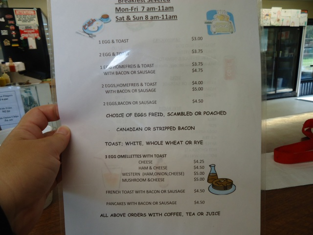 thunderbay snack bar breakfast menu mon - fri 7am to 11 am, sat, sun 8 am - 11 am linda randall