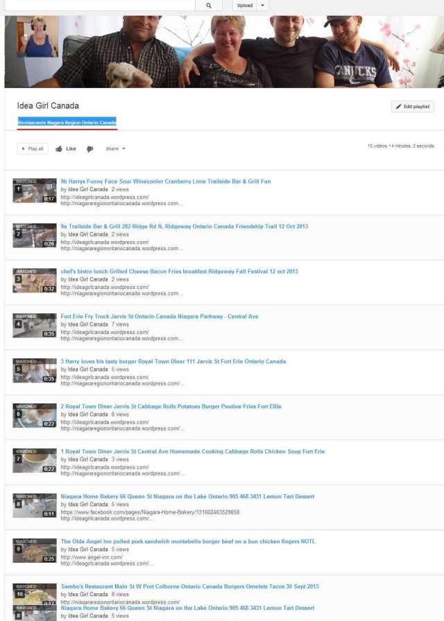 Restaurants Niagara Region Ontario Canada - YouTube idea girl canada linda randall travel tourism news reviews
