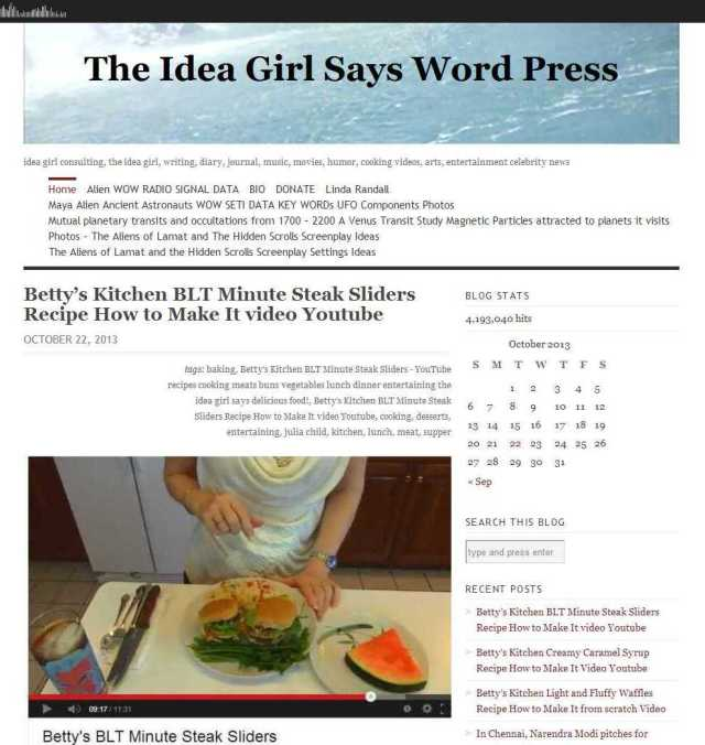 The Idea Girl Says Word Press - idea girl consulting, the idea girl, writing, diary, journal, music, movies, humor, cooking videos, arts, entertainment celebrity news betty's kitchen search this blog tool