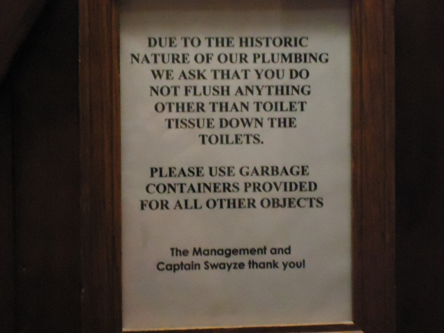 the olde angel inn bathroom sign historic plumbing warning oct 1 2013 linda randall