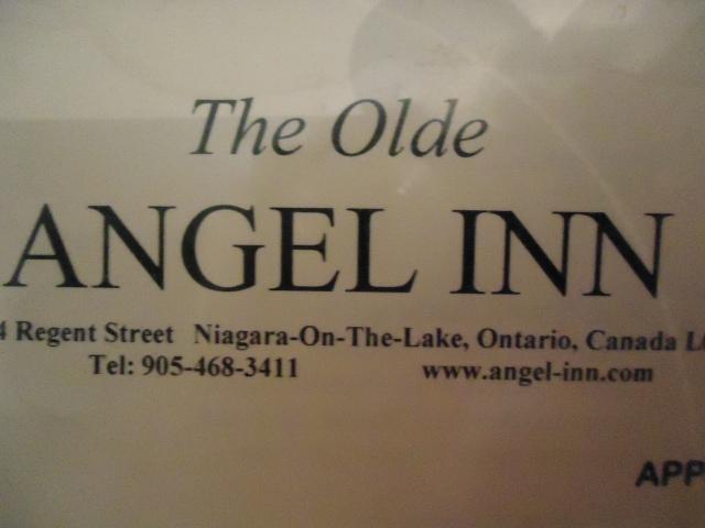 the olde angel inn regent st NOTL ontario canada 905 468 3411 linda randall