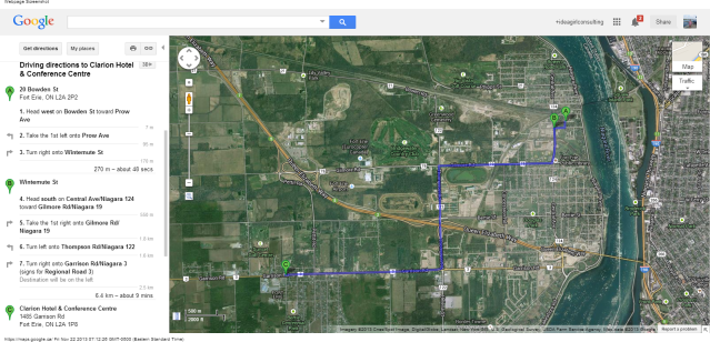 20 Bowden St, Fort Erie, ON L2A 2P2 to Clarion Hotel   Conference Centre - Google Maps
