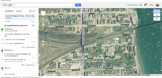 20 Bowden St, Fort Erie, ON L2A 2P2 to Jarvis St - Google Maps