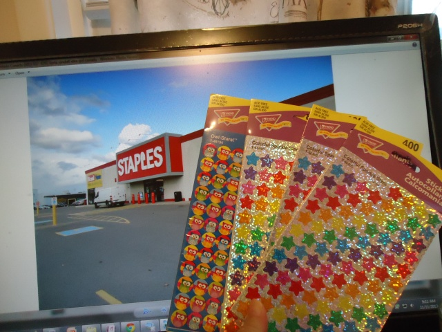 Staples buying fitness workout exercise calendar goal shiny stars owl stickers the idea girl says youtube channel linda randall nov 2013