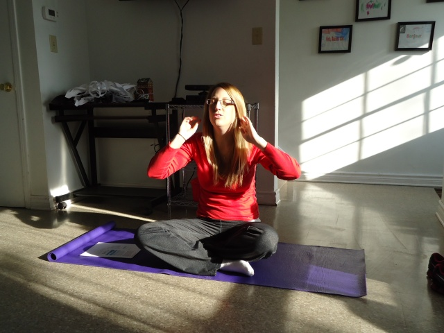 Ashley takes a meditation vacation Community House Wellness Wednesdays 1 to 2 pm 4 Dec 2013 linda randall