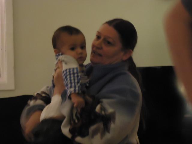 baby quintin with grandma cathy Christmas Party  30 nov 2013 linda randall