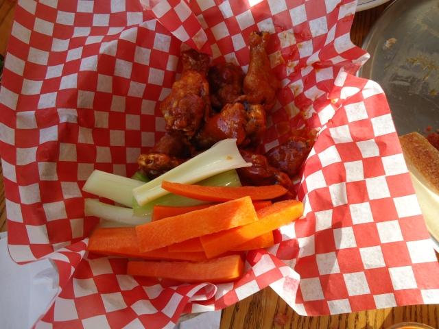 buffalo mild chicken wings celery carrot sticks blue cheese aneta pizzeria ridgeway linda randall