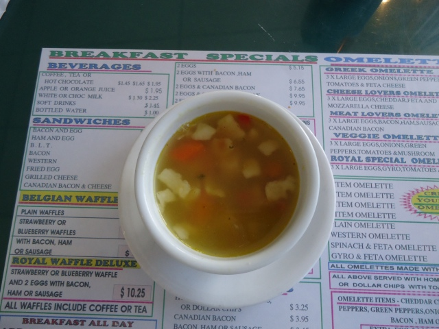 chicken rice soup lunch special hot beef bun dip royal town diner fort erie linda randall