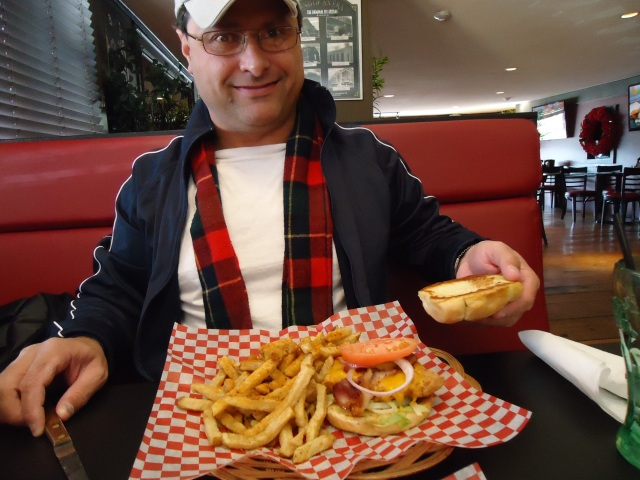 Harry likes buffalo sabre burger fries trailside bar n grill ridge rd n ridgeway ontario canada