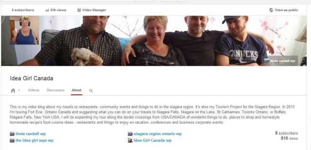 Idea Girl Canada - YouTube reaches 500 views 2 dec 2013 linda randall the idea girl says wordpress youtube blogger