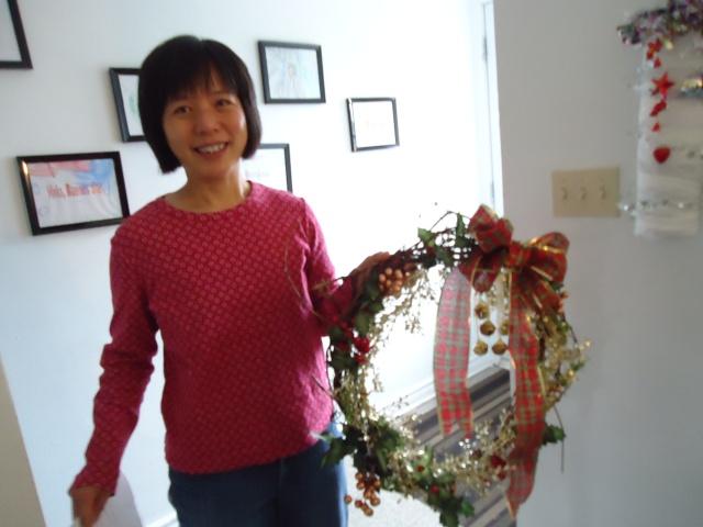 Li's gorgeous wreath Community House 5 Dec 2013 Linda Randall