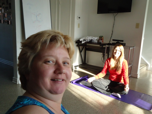 linda randall with ashley meditation community house wellness wednesdays fort erie ontario canada