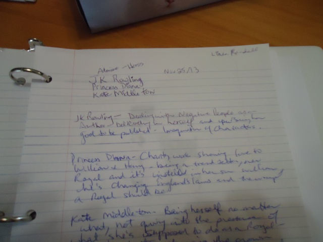 linda randalls hero's list jk rowling princess diana kate middleton 25 nov 2013