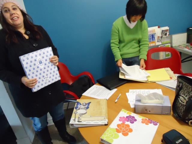 teresa lee binder papers women's group community house program fort erie 25 nov 2013 linda randall
