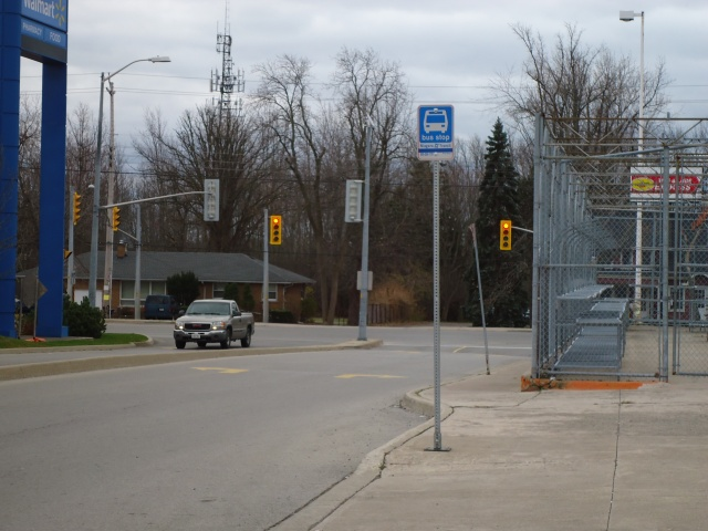 walmart bus stop garrison rd lights view fort erie ontario canada