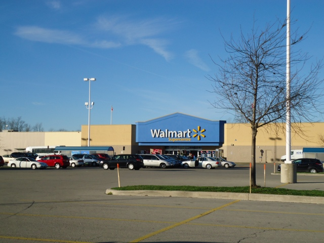 Walmart Supercentre view Thompson Rd Parking lot from LCBO Fort Erie ontario canada linda randall