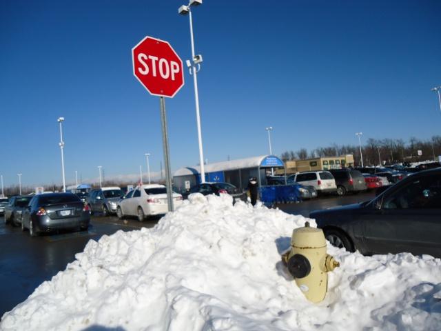 bus stop walmart big snow drift fort erie garrison rd 16 dec 2013 linda randall