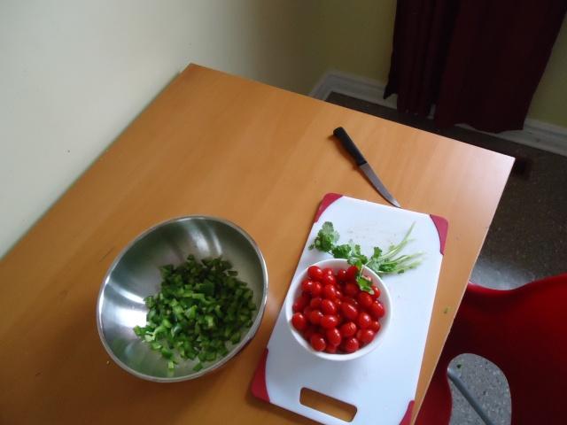 chopped jalepeno peppers tomatoes salsa dish 6 jan 2014 community house linda randall