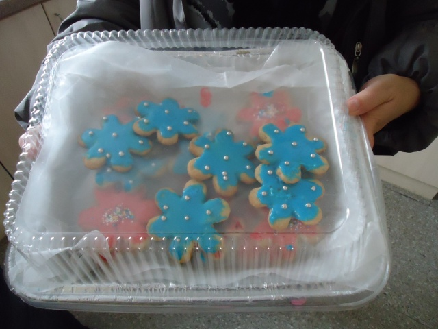 christmas rolled dough cookies blue pink silver balls sprinkles Redstacks Retirement from Community House Fort Erie