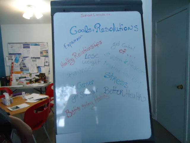 deb teaches us goals resoultions community house 2 jan 2014 linda randall