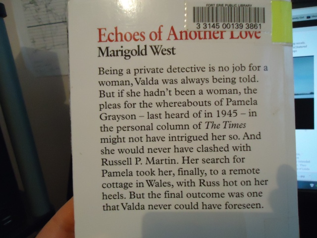 echoes of another love marigold west book cover
