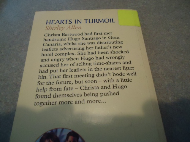 Hearts in Turmoil Shirley Allen Book Cover