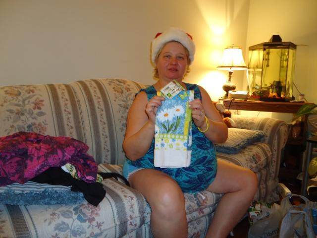 linda randall christmas tea towel gift from harry 2013