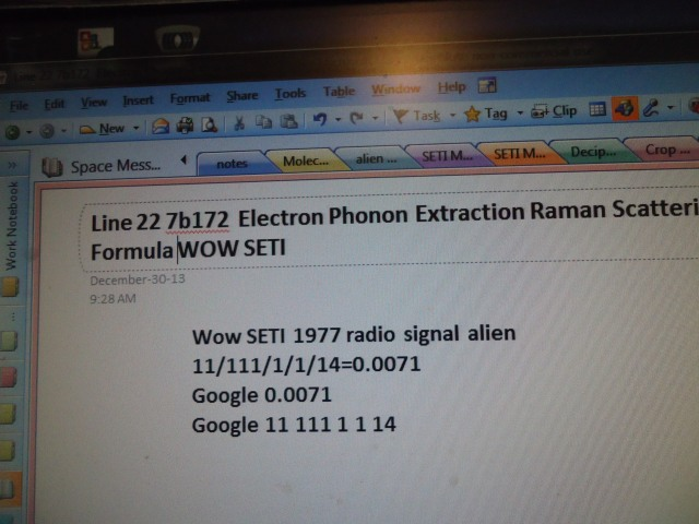 Line 22 7b172 Electron Phonon Extraction Raman Scattering Formula WOW SETI - Linda Randall the idea girl says youtube