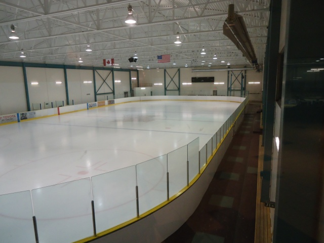 other arena standing bleachers only fort erie (ice stays year round for skating) ontario canada linda randall
