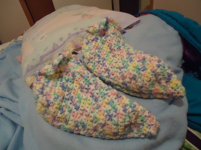 pink white yellow purple green slippers by loren for linda randall