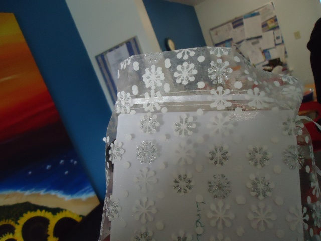 pretty snowflake lace bag from teresa for linda randall christmas gift dec 2013
