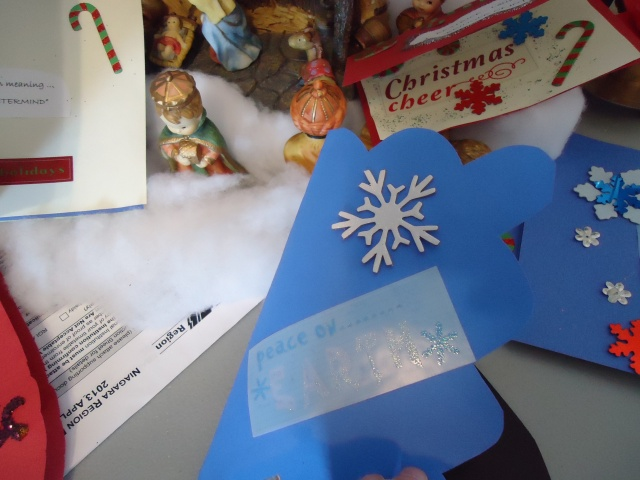 snow flake stickers for home made christmas cards community house dec 2013 linda randall