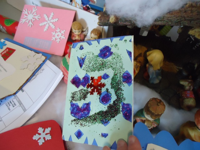 stars sprinkles glitter christmas card craft linda randall