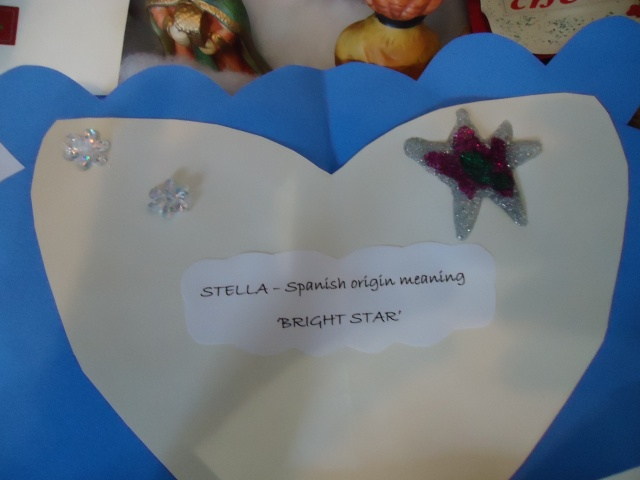 stella means bright star christmas card made by linda randall